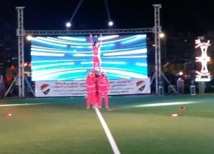"""""""رياضية البنات"""" تشارك بعروض استعراضية بدوري الشركات في بورسعيد"""