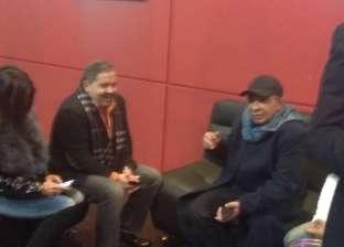 """إدوارد وهادي الجيار أول الحضور بالعرض الخاص لفيلم """"نادي الرجال السري"""""""