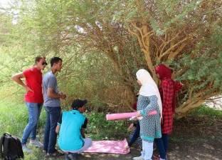 تدريب طلابي لكلية الزراعة بجامعة أسوان على التوعية البيئية