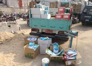 ضبط 600 كيلو مخصبات زراعية مجهولة المصدر بمدينة سرس الليان