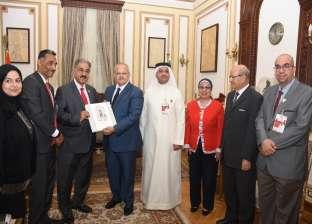 الخشت يبحث مع رئيس الجامعة الأهلية بالبحرين تبادل الأساتذة والطلاب