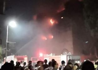 الصور الأولى من حريق كنيسة الأنبا بولا بحدائق القبة