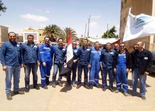 """العاملون بـ""""مصر للصيانة"""" يدلون بأصواتهم بلجان الاستفتاء في أبورديس"""