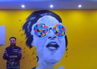 جرافيتي لأم كلثوم يزين كافية بالمهندسين: «بحبها وبعشق فنها»