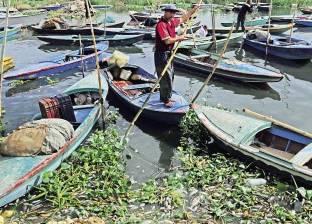 """المسطحات المائية الإسكندرية تشن حملة لإزالة التعديات على """"المريوطية"""""""