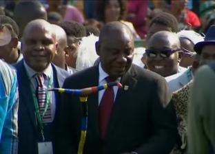 بالفيديو| رئيس جنوب أفريقيا الجديد يرقص على أنغام فلكلورية