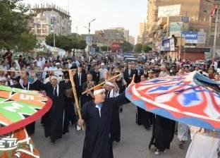 عروض فلكلورية واغاني في احتفالات بني سويف بعيد الفطر المبارك