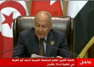 أبو الغيط: الأنباء القادمة من المنطقة العربية ليست كلها سيئة