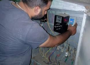 """حملة مكبرة لصيانة أعمدة الكهرباء بـ""""زهور بورسعيد"""""""