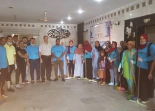 جمعية بسمة تشارك في تجميل ونظافة مستشفى السويس العام