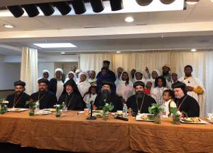 الكنائس الأرثوذكسية بأمريكا تعقد قداس مشترك في الكنيسة القبطية