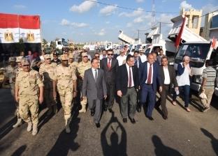 محافظ الإسكندرية يتفقد المعدات الثقيلة المجهزة لمواجهة أي الأزمات