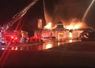 """حريق في مصنع أدوات كهربائية بـ""""العاشر"""" والدفع بـ10 سيارات إطفاء"""