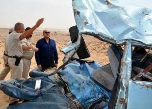 محافظ سوهاج يتفقد آثار حادث طريق المطار الدولي