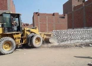 إزالة 3 حالات تعد على أرض زراعية بمركز بني مزار في المنيا