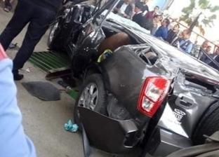 إصابة 6 أفراد إثر انقلاب سيارة شرطة بمدخل مدينة المنيا الجديدة