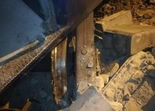 تعطل حركة القطارات ببورسعيد بسبب خروج عربة باور من قطار إكسبريس