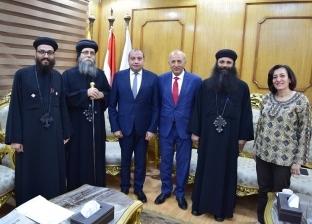 أسقف مطرانية ببا يدعو رئيس جامعة بني سويف لمؤتمر عن التراث القبطي
