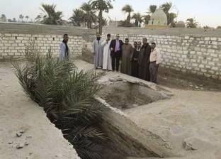 غرق مقابر «الأحايوة شرق» فى مياه الرى والصرف بسوهاج
