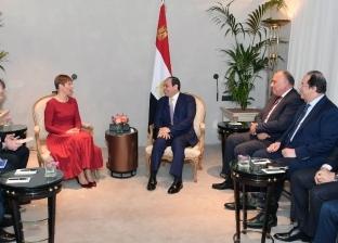 السيسى يستقبل رئيس إستونيا ويرحب بنشاط بلاده الاستثماري في مصر