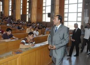 رئيس جامعة المنوفية يتفقد امتحانات كلية التمريض