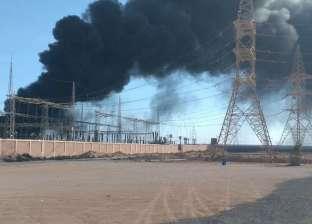 عاجل  بيان من «الكهرباء» بشأن اندلاع حريق هائل في محطة بمطروح