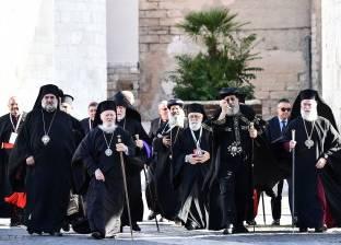 بابا الفاتيكان ورؤساء الكنائس يصلون لقوة مجتمعات مسيحيي الشرق الأوسط
