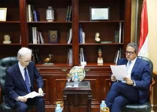 وزير الآثار يناقش مع سفير اليابان بالقاهرة تطورات المتحف المصري الكبير