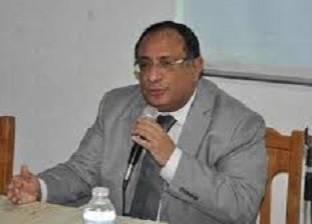 رئيس جامعة حلوان يتفقد مبنى الامتحانات