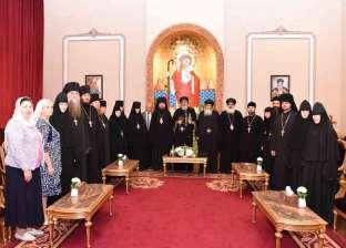بالصور| البابا تواضروس يستقبل وفدا رهبانيا روسيا وسفير بيرو بالقاهرة