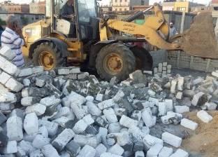 إزالة 82 حالة تعدٍ على أملاك الدولة والأراضي في سيدي سالم بكفر الشيخ