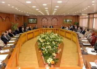 """رئيس جامعة المنصورة يناقش مع مجلس كلية الهندسة """"عمليات المعامل"""""""