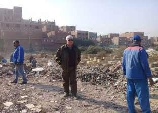 بالصور| إزالة 5 آلاف طن مخلفات من مقابر اليهود في البساتين