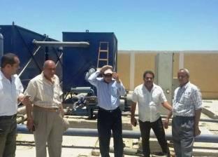 انتهاء الأعمال الإنشائية بمحطة مياه جزيرة المنتصر في سوهاج