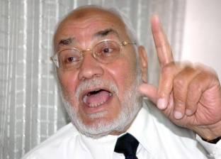 """مؤسس """"مناهضة أخونة الدولة"""" يطالب بالإفراج الصحي عن مهدي عاكف"""