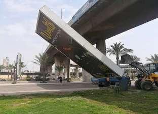 إزالة 10 إعلانات مخالفة بمحرم بك في الإسكندرية