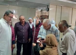 """رئيس مدينة شبين القناطر يتفقد """"المستشفى الشاملة"""" بعد فيديو القطط"""
