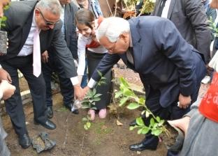 إطلاق «100 شجرة مثمرة» بالمنصورة.. والمحافظ يغرس الأولى