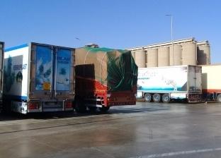 تداول 603 شاحنات و43 سيارة بموانئ البحر الأحمر