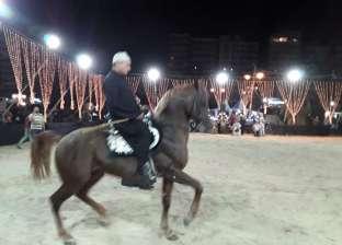 بالصور| سهرة رمضانية لرابطة مربي الخيول العربية بالمنصورة