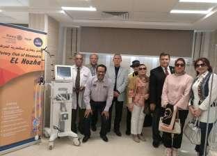 روتاري النزهة يتبرع بجهاز تنفس صناعي لمستشفى العامرية لعلاج المبتسرين
