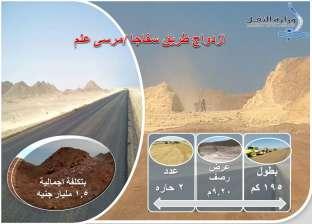 """عرفات: تنفيذ مشروع ازدواج طريق """"سفاجا ـ مرسى علم"""" بـ1.5 مليار جنيه"""