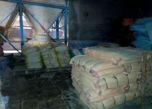ضبط 9 أطنان أعلاف حيوانية وأرز شعير في حملات تموينية بالغربية