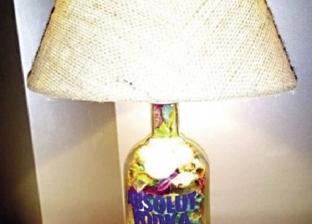 «على» يحول زجاجة الخمر إلى «أباجورة الحشمة».. وبـ100 جنيه