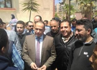 مدير أمن بورسعيد يتفقد سير التصويت في الاستفتاء بحي الزهور