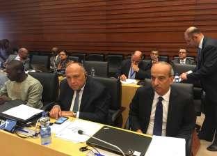 شكري يشارك بالاجتماعات التمهيدية للقمة الإفريقية في أثيوبيا