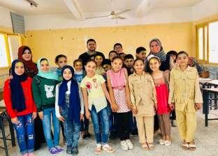 """""""دعم قيم المواطنة والانتماء"""".. حملات توعية لطلاب المدارس في المنيا"""