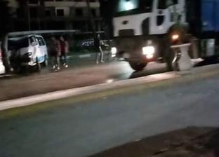"""إصابة 10 أشخاص في حادث تصادم بطريق """"العاشر - بلبيس"""""""