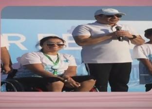 بطلة مصر في الريشة الطائرة تكشف رسالة السيسي لها في منتدى الشباب