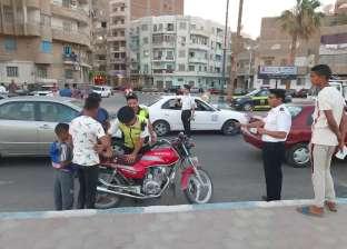 ضبط 80 دراجة نارية غير مرخصة في حملة مرورية بالسويس